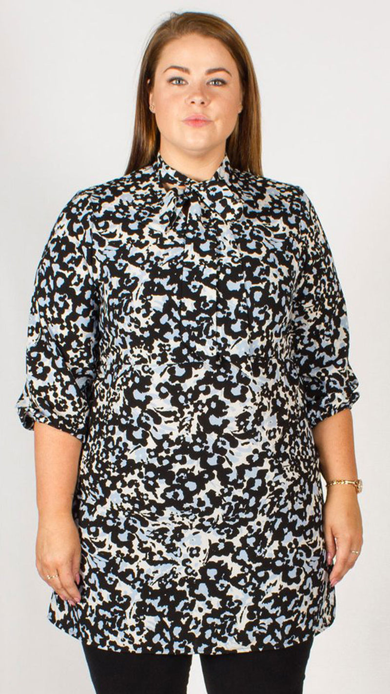 Bogata Black/Blue Printed Shirt