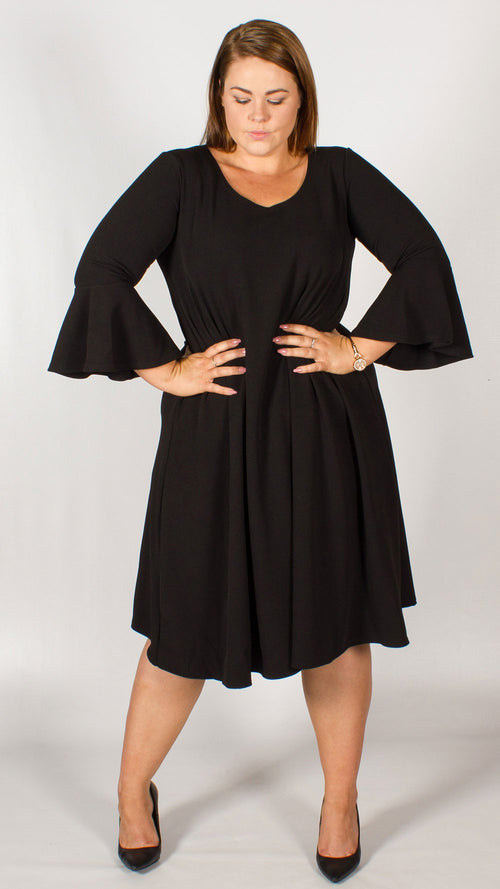 Como Black Swing Dress