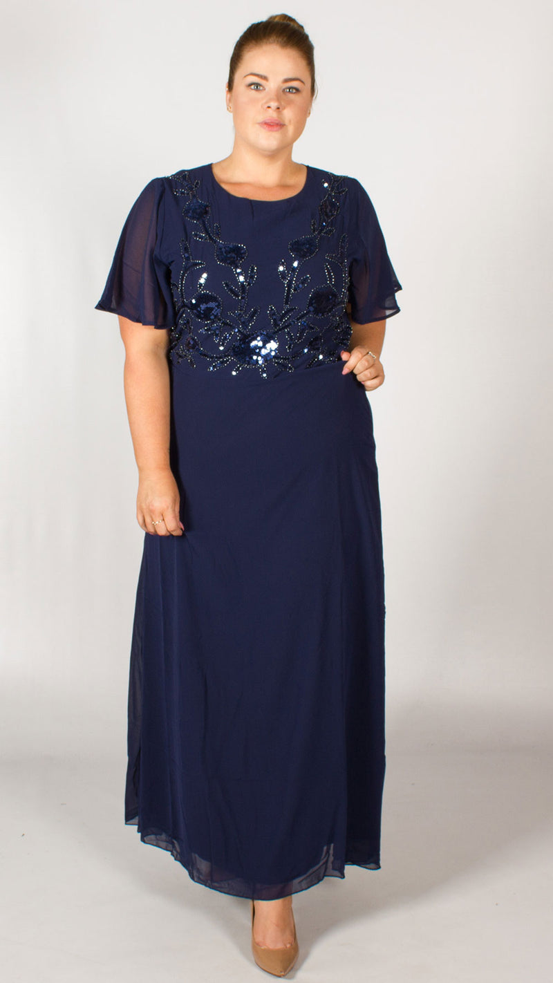 Cana Navy Lace Dress