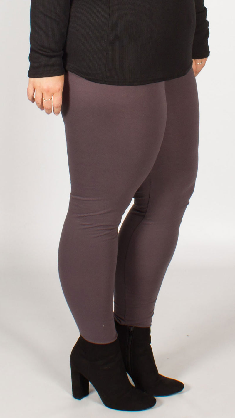 Grey Full Length Leggings