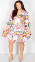 Kayley Light Floral Swing Dress