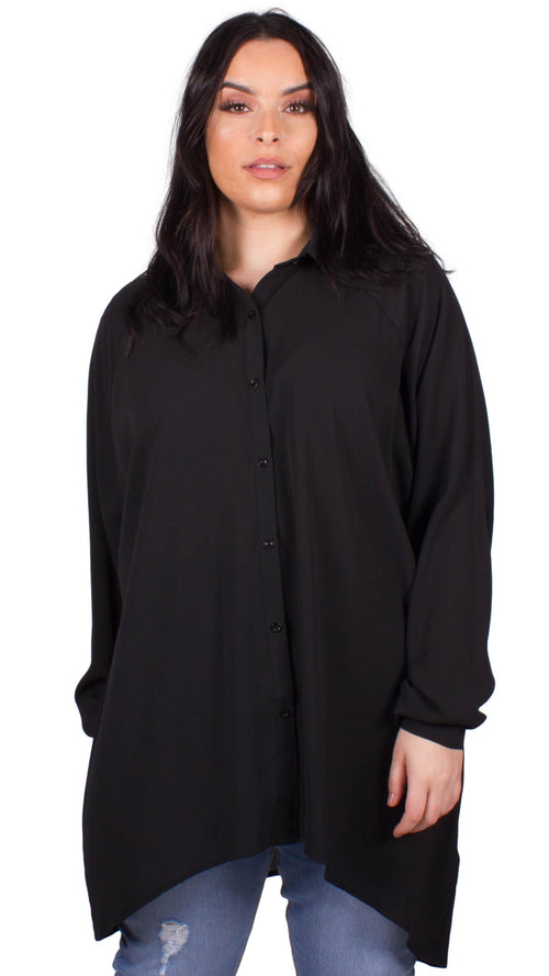 CurveWow Shirt Blouse Black