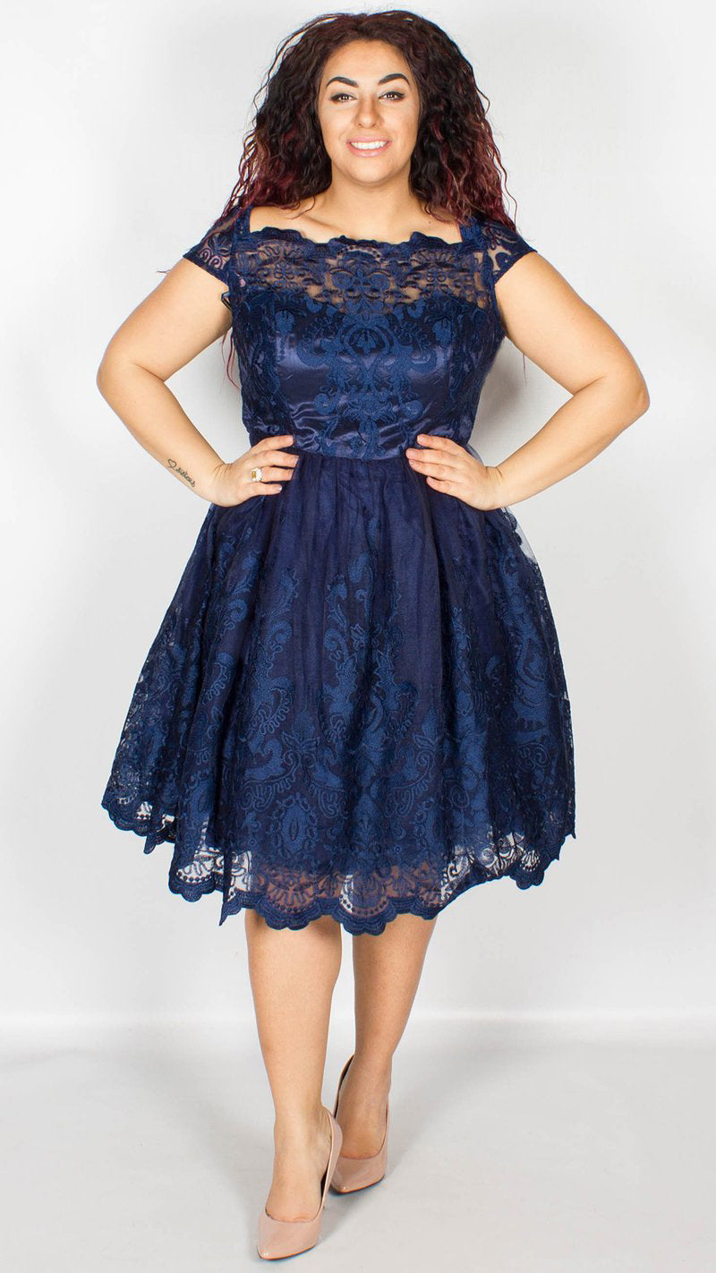 Chi Chi Curve Navy April Dress