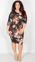 Alison Floral Print Bodycon Dress