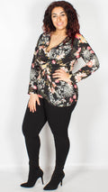 Hailey Floral Front Twist Top