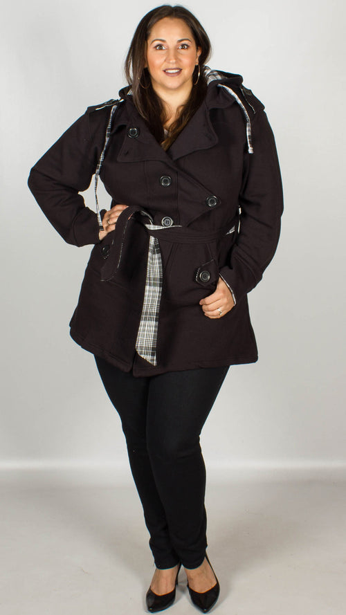 Talulah Black Hooded Jacket