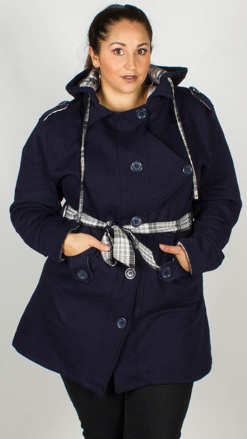 Talulah Navy Hooded Jacket