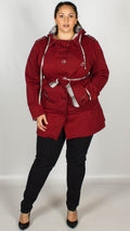 Talulah Wine Hooded Jacket