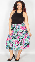 Julie Pull On Lily Print Skirt