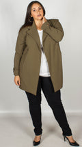 Cathy Khaki Blazer Coat