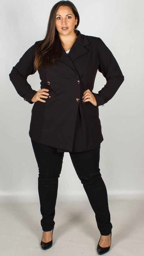 Cathy Black Blazer Coat
