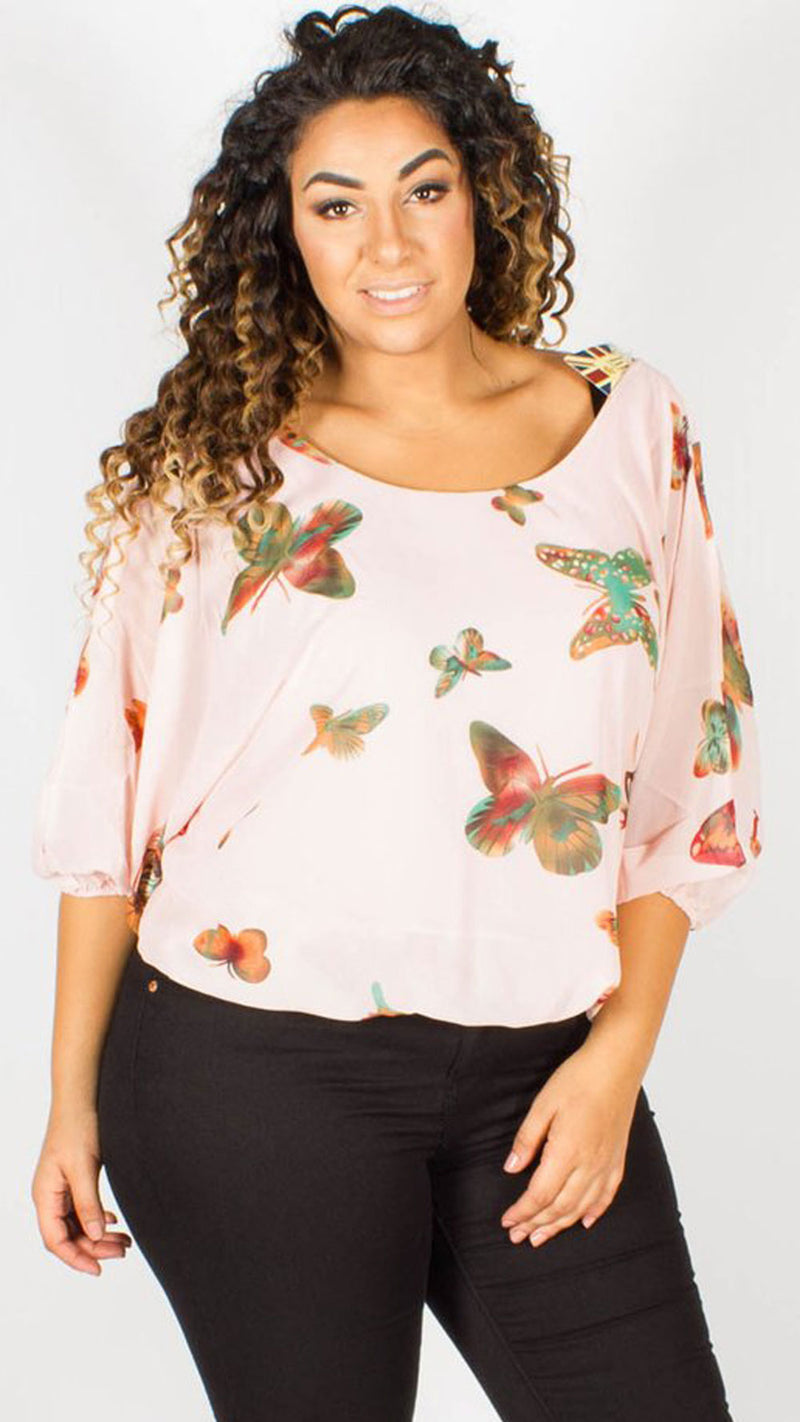 Napa Butterfly Low Back Gypsy Top
