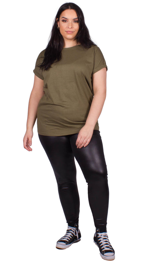 Eliana Leather Look Leggings Black
