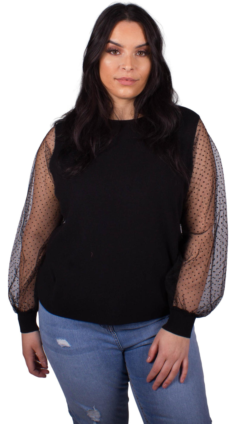 CurveWow Knitted Jumper Black