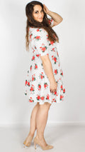 Maddison Floral and Polka Dot Skater Dress