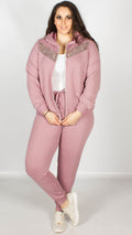 Poppy Pink Sequin Hood Lounge Jacket