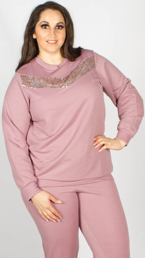 Poppy Sequin Detail Lounge Top Pink