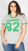 Ariel Grey Eighty Two California Varsity Print Contract T-Shirt
