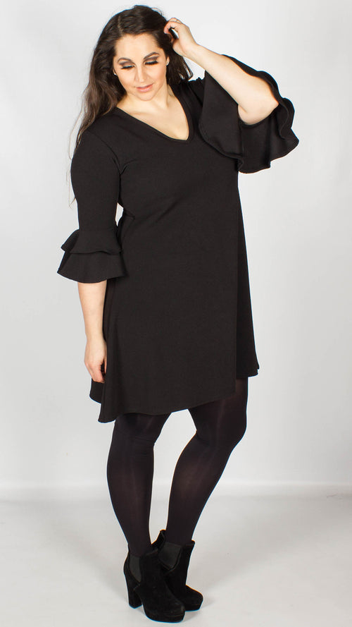 Kayley Black Swing Dress