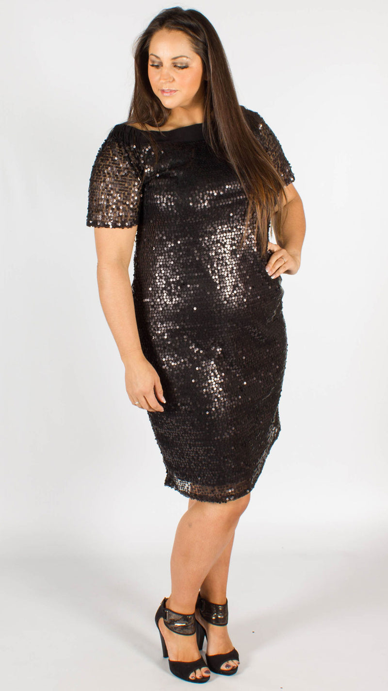 Yerevan Sequin Bardot Dress