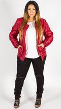 Tulsa Red Padded Bomber Jacket
