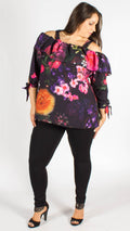 Anmore Purple Floral Bardot Top