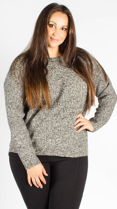 Monterrey Grey Zip Back Jumper