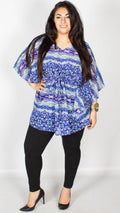 Kate Blue Batwing Kaftan