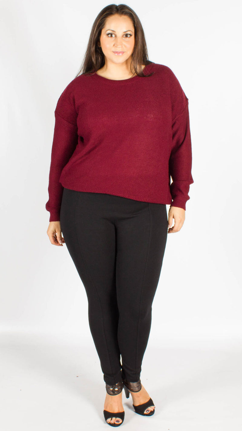 Sedonia Berry Long Sleeve Knitted Jumper