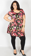 Piper Floral Print Cut Out Back Swing Dress