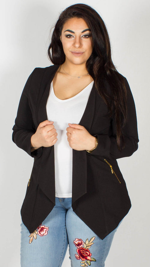Varna Waterfall Zip Jacket Black