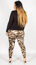 Leopard Abstract Print Leggings
