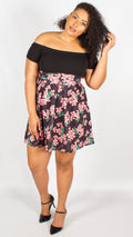 Grace Floral Bardot Skater Dress