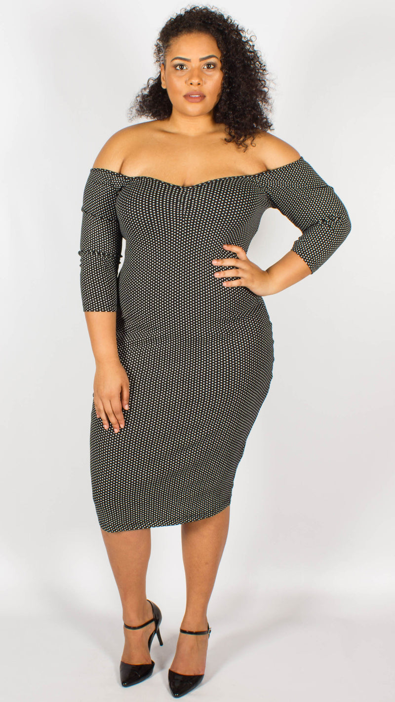 Buenos Mainline Polka Dot Pencil Dress