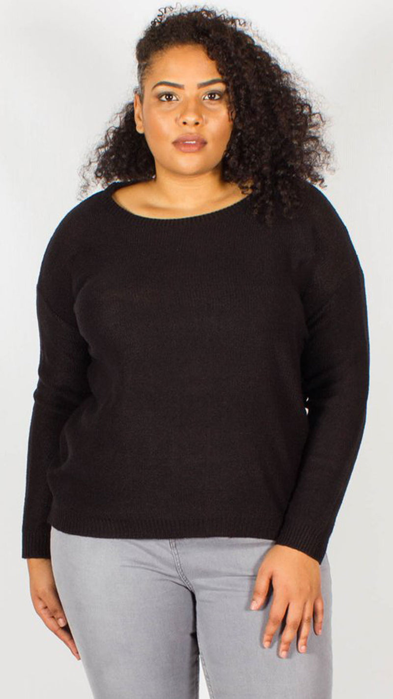 Monterrey Black Zip Back Jumper