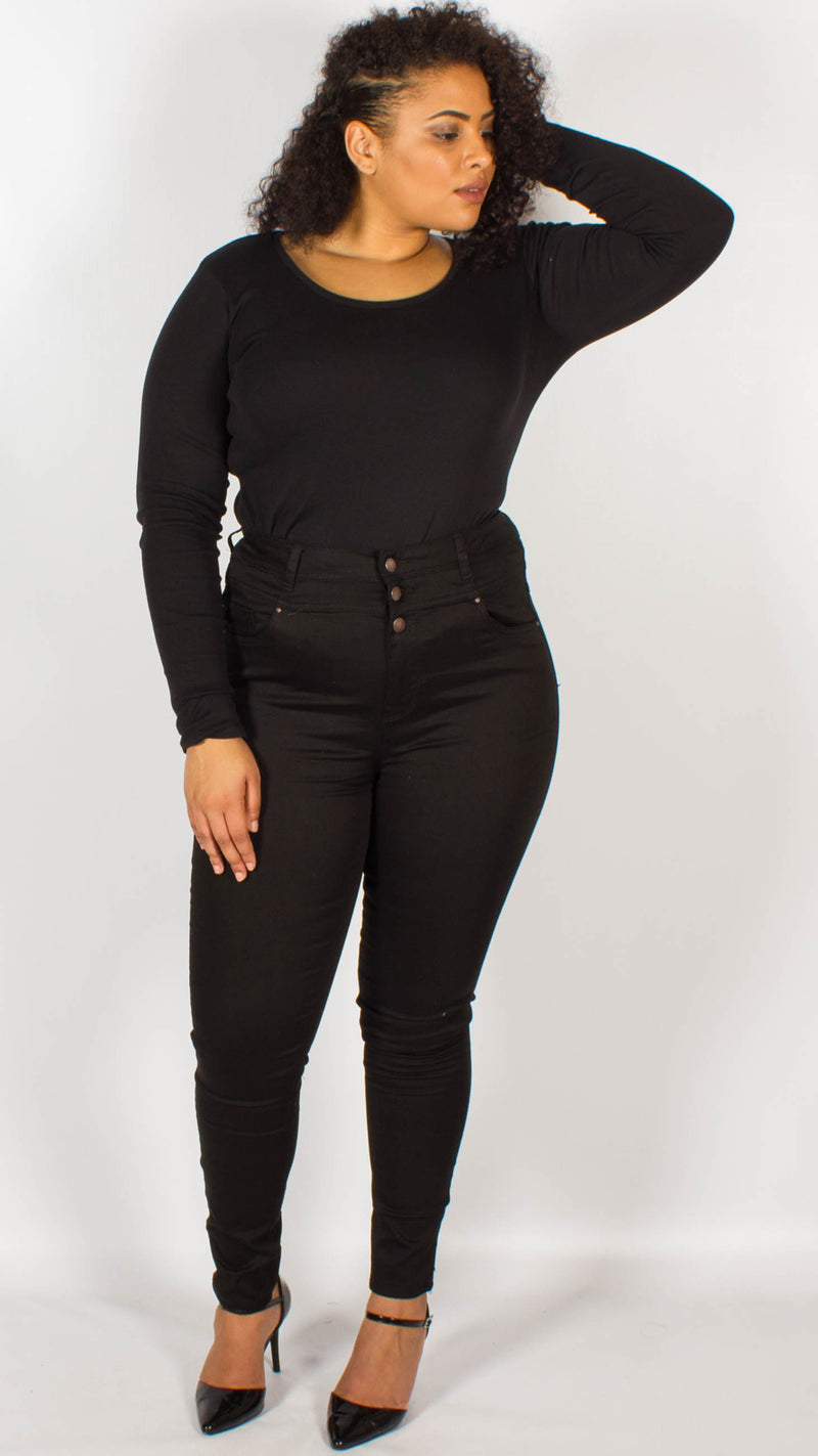 Ohio Black High Waist Super Soft Skinny Jeans