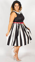 Honolulu Black Stripe Party Dress
