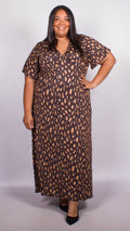Aria Brown Maxi Dress