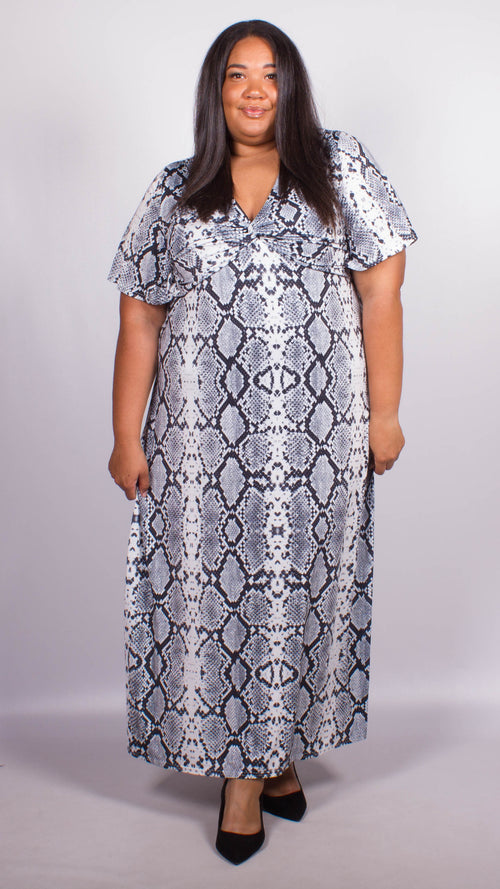 Aria Snakeskin Maxi Dress