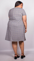 Sophia Grey Checked Swing Dress