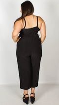 Carrie Black Wrap Spaghetti Strap Jumpsuit