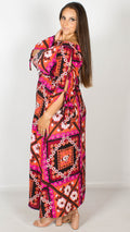 Doris Multi Floral Bardot Maxi Dress