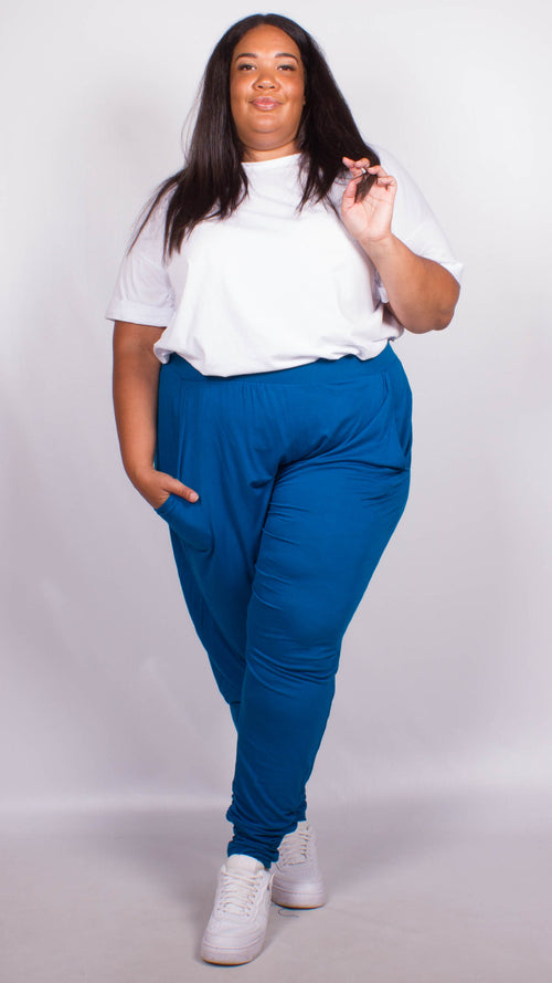 Sarah Blue Two Pocket Lounge Pants