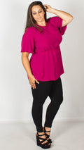 Bethany Purple Peplum Top