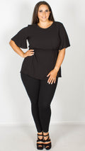 Bethany Black Peplum Top