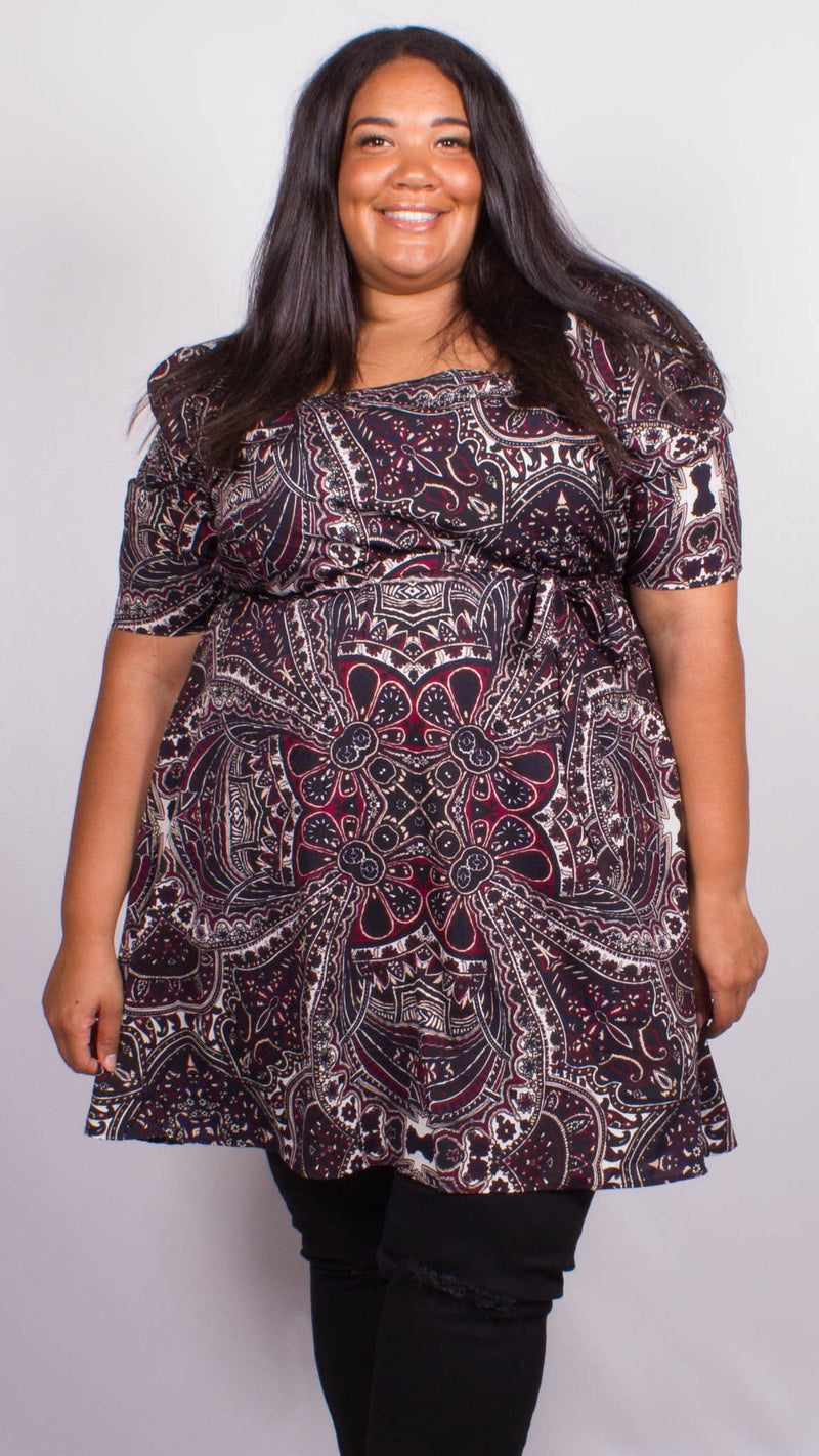 Bailey Paisley Square Neck Top
