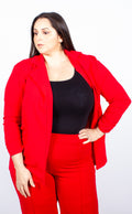 Ersla Red Open Front Blazer