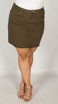 Cassandra Khaki Denim Skirt