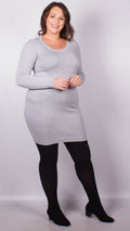 Alexandra Grey Knitted Jumper Dress