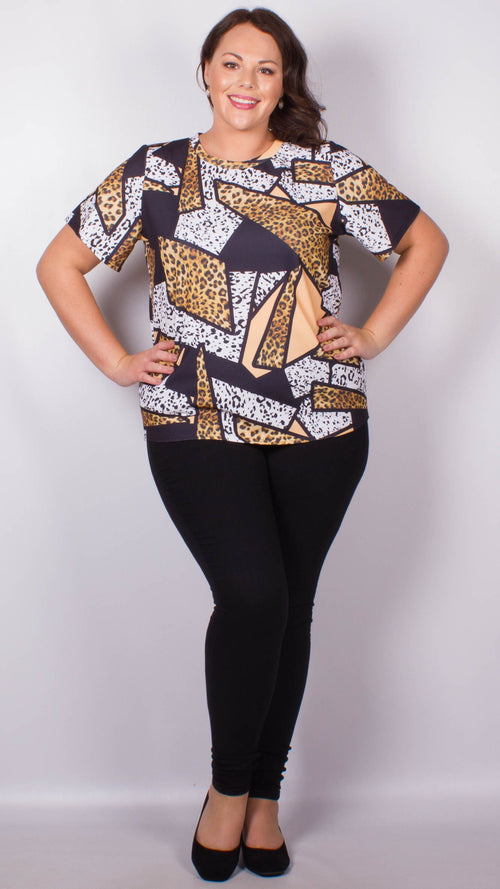 CurveWow Animal Print Longline T-Shirt